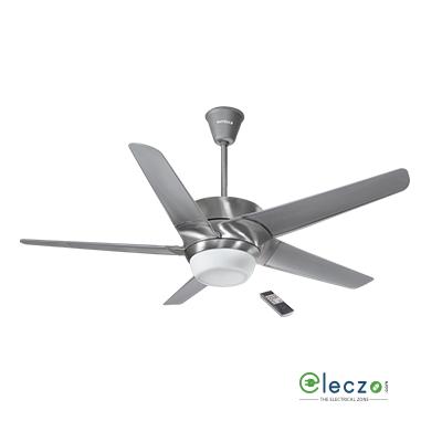 Havells Lumos Premium LED Underlight Ceiling Fan With Remote 1320 mm (52''), Brushed Aluminium, 5 Blade