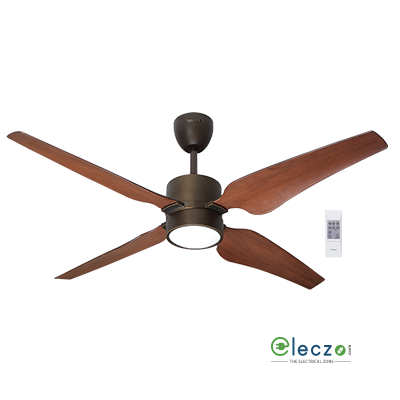 Havells Momenta Premium LED Underlight Ceiling Fan With Remote 1320 mm (52''), Architectural Bronze, 4 Blade