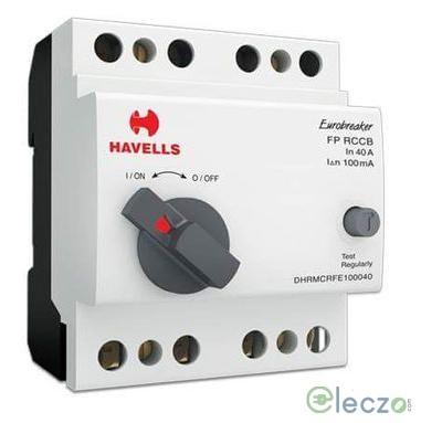 Havells Euro II RCCB 16 A, 4 Pole, 100 mA, Type A