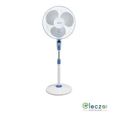 "Havells Sprint LED Pedestal Fan 400 mm (16""), Blue"