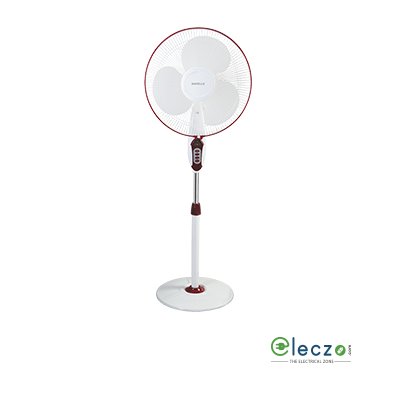 "Havells Sprint LED With Remote Pedestal Fan 400 mm (16""), Wine Red"