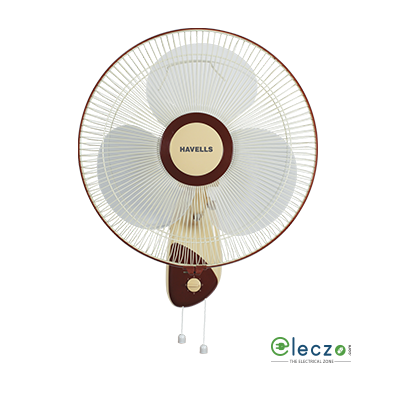 Havells Swanky Wall Fan 400 mm (16''), Brown