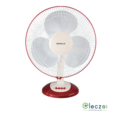 Havells Swing LX Table Fan 400 mm (16''), Cherry