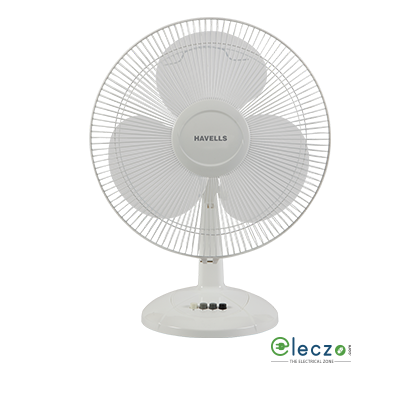 Havells Swing LX Table Fan 400 mm (16''), White