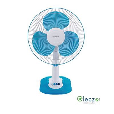Havells Swing ZX Table Fan 400 mm (16''), Blue