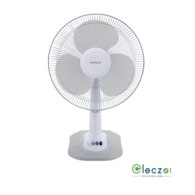 Havells Swing ZX Table Fan 400 mm (16''), Light Grey