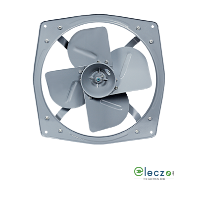 "Havells Turboforce Heavy Duty Exhaust Fan 380 mm (15""), Grey, Single Phase, 4 Blade"