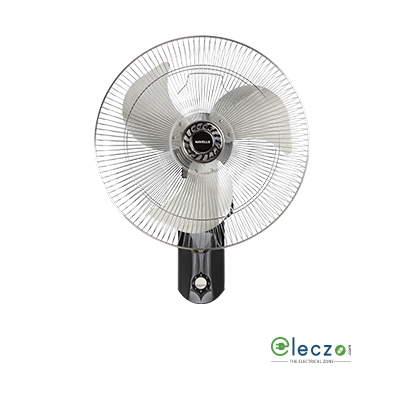 "Havells V3 Wall Fan 450 mm (18""), Silver Black"