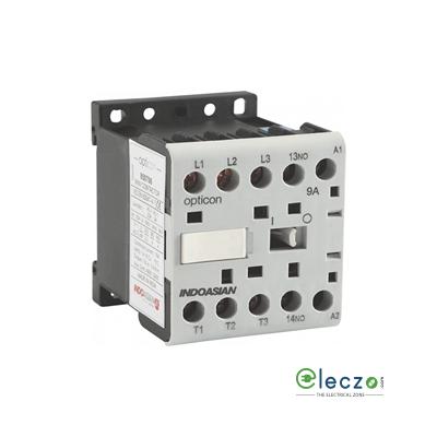 Indoasian Opticon Power Contactor 9 A, 3 Pole, 24 V AC, 1 NO, AC3 Duty