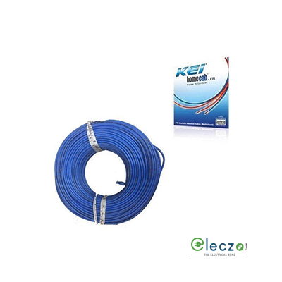 KEI Homecab 0.75 Sq.mm, Single Core Copper Flexible Cable, Blue, PVC FR (Flame Retardant)