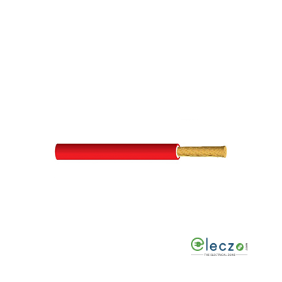 KEI 0.5 Sq.mm, Single Core Copper Flexible Cable, Red, PVC FR (Flame Retardant)