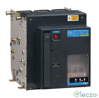 L&T Switchgear C-POWER S1 ACB 800 A, 3 Pole, 50 kA, Manual Fixed, O/L, S/C & E/F, Microprocessor Based SR18G