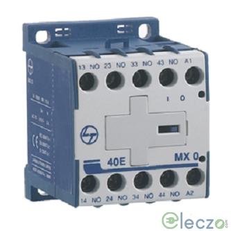 L&T MX0 13E Auxiliary Contactor 4 A, 1 NO + 3 NC, 240 V AC