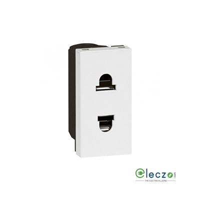 Legrand Arteor 2 Pin Euro Socket (Square) 15/16 A, 1 Module, White