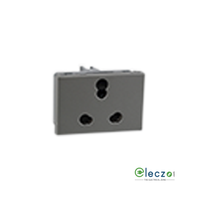Legrand Arteor 3 Pin Shuttered Socket (Square) 6/16 A, 3 Module, Magnesium