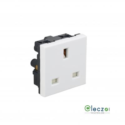 Legrand Arteor 3 Pin 2P + E BS Socket With Shutter (Square) 13 A, 2 Module, White