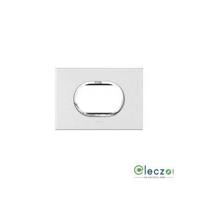 Legrand Arteor Cover Plate 3 Module Round, White, With Support Frame