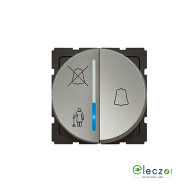 Legrand Arteor Magnesium Round DND & MMR Indicator Outside Room With Door Bell, 2 Module