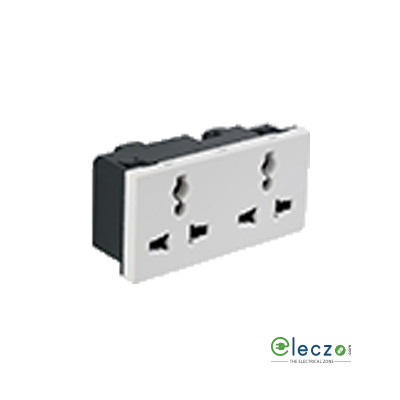 Legrand Arteor Double Multistandard Socket (Square) 6/13/15 A, 4 Module, White