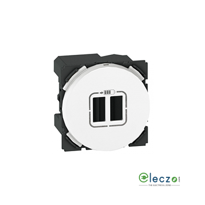 Legrand Arteor Double USB Charge Audio Video Socket (Round) White