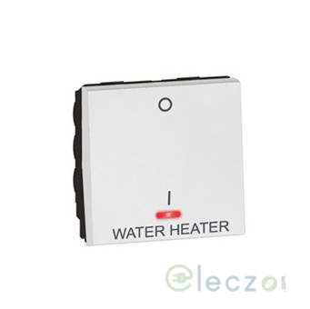 Legrand Arteor DP Switch With Water Heater Marking (Square) 20 A, White, 2 Module, 1 Way, With Indicator