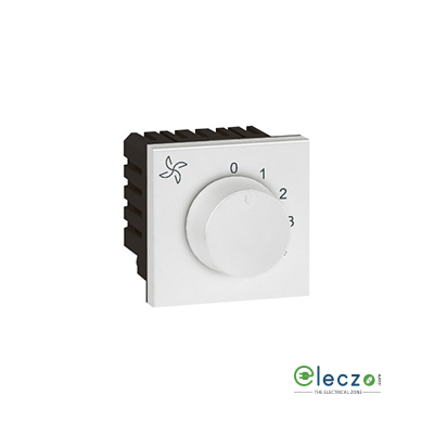 Legrand Arteor Fan Regulator (Square) 100 W, 2 Module, White, 5 Step