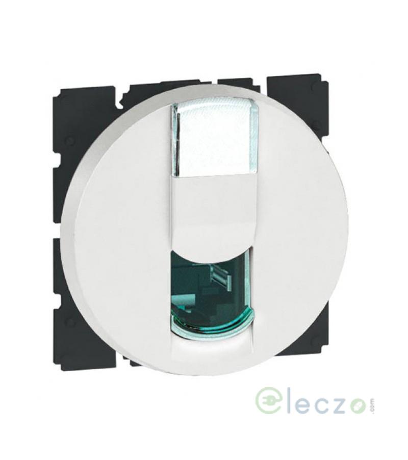 Legrand Arteor Information Socket (Round) 2 Module, White, RJ 45 (Cat 6)