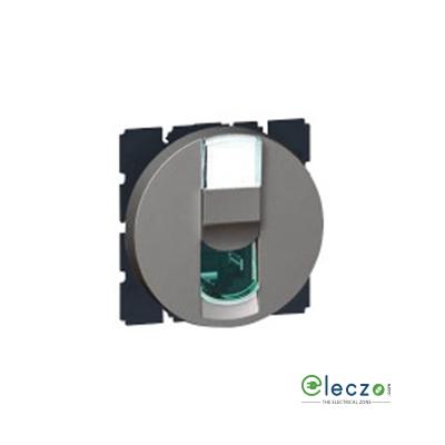 Legrand Arteor Information Socket (Round) 2 Module, Magnesium, RJ 45 (Cat 6)