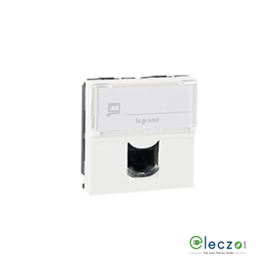 Legrand Arteor Information Socket 2 Module, White, RJ 45 (Cat 6)