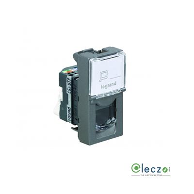 Legrand Arteor Information Socket 1 Module, Magnesium, RJ 45 (Cat 5)