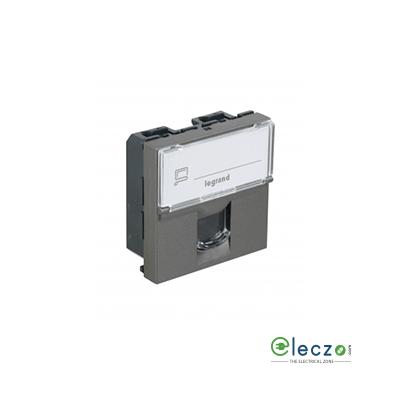 Legrand Arteor Information Socket 2 Module, Magnesium, RJ 45 (Cat 6)
