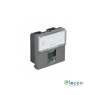 Legrand Arteor Information Socket 2 Module, Magnesium, RJ 45 (Cat 5)
