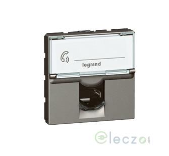 Legrand Arteor Information Socket (Square) 2 Module, Magnesium, RJ 45 (Cat 6)