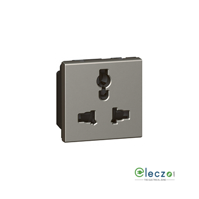 Legrand Arteor Multistandard Socket (Square) 6/13/15 A, 2 Module, Magnesium