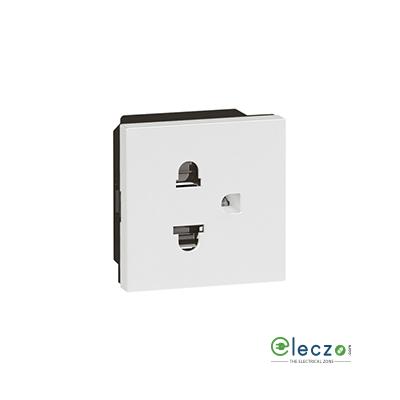 Legrand Arteor 2P + E Socket With Shutter (Square) 15/16 A, 2 Module, White