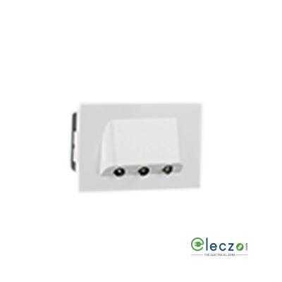 Legrand Arteor 3 Module White Skirting Light, White-LED