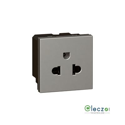 Legrand Arteor 2P + E Socket With Shutter (Square) 15/16 A, 2 Module, Magnesium