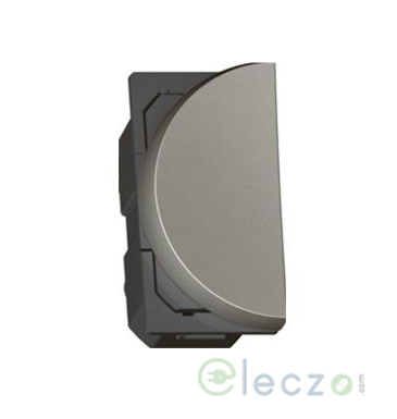 Legrand Arteor SP Switch (Round) 6 A, Magnesium, 1 Module, 1 Way - Left