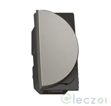 Legrand Arteor SP Switch (Round) 6 A, Magnesium, 1 Module, 1 Way - Right