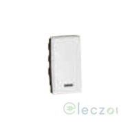 Legrand Arteor SP Switch (Square) 6 A, White, 1 Module, 1 Way, With Indicator