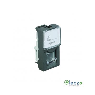 Legrand Arteor Telephone Socket With Shutter 1 Module, Magnesium, RJ 11