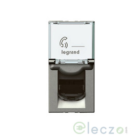 Legrand Arteor Information Socket 1 Module, Magnesium, RJ 45 (Cat 6)