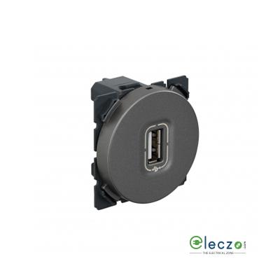 Legrand Arteor USB Socket 2 Module, Magnesium