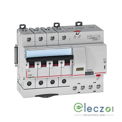 Legrand DX3 RCBO 25 A, 4 Pole, 30 mA, Type AC