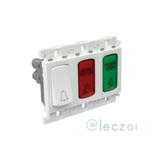 Legrand Mylinc White DND & MMR Indicator Outside Room With Door Bell, 3 Module