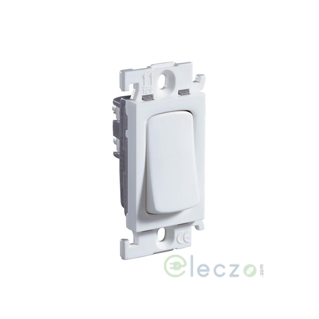 Legrand Mylinc White SP Switch 6 A, 1 Module, 1 Way