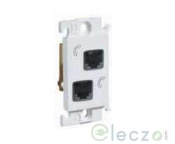 Legrand Mylinc Telephone Socket 1 Module, White, RJ 11