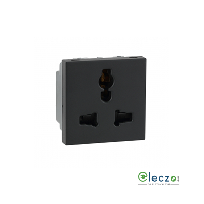Legrand Myrius 2 Or 3 Pin Multistandard Socket 13 A, 2 Module, Black