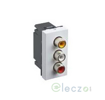 Legrand Myrius 3 x Female RCA Audio & Video Socket White , 1 Module