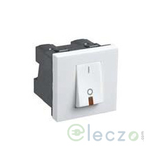 Legrand Myrius DP Switch 32 A, White, 2 Module, 1 Way, With Indicator